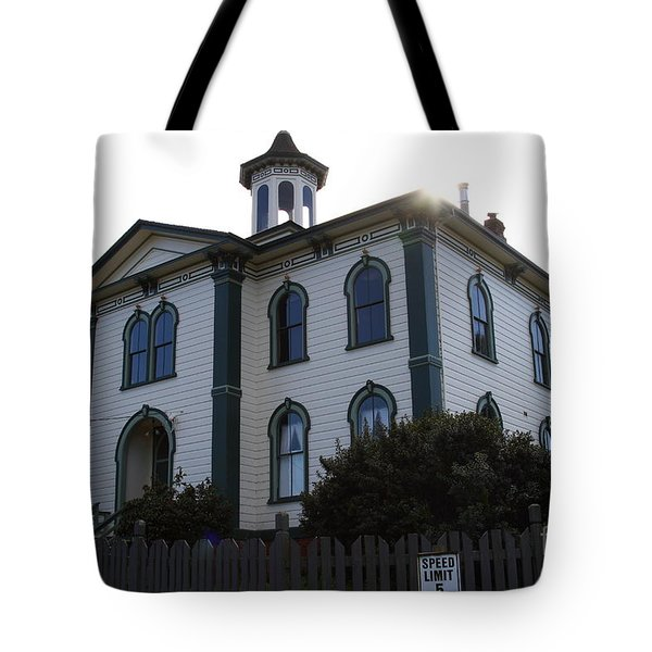 The Potter School House . Bodega Bay . Town of Bodega . California . 7D12477 Tote Bag by Wingsdomain Art and Photography