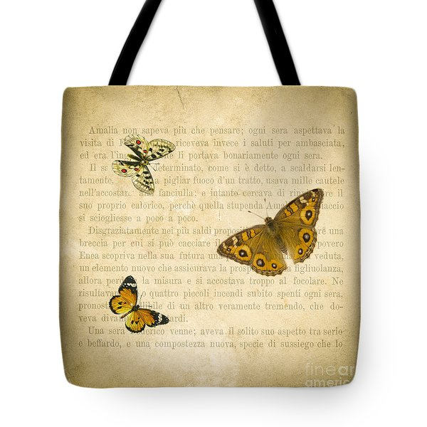 The Printed Page 1 Tote Bag by Jan Bickerton