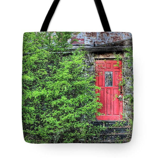 The Red Door Tote Bag by JC Findley