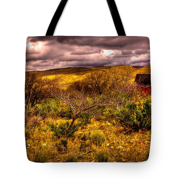 The Red Shed At Red Rock Canyon Tote Bag by David Patterson