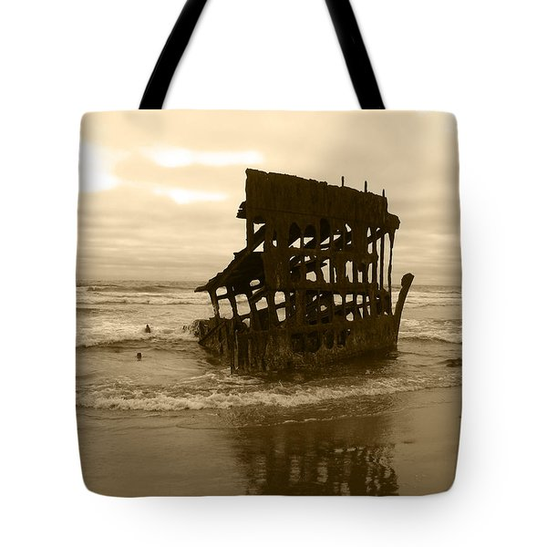 The Remains Of A Ship Tote Bag by Kym Backland