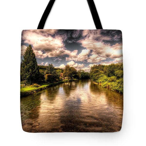 The River Exe At Bickleigh Tote Bag by Rob Hawkins