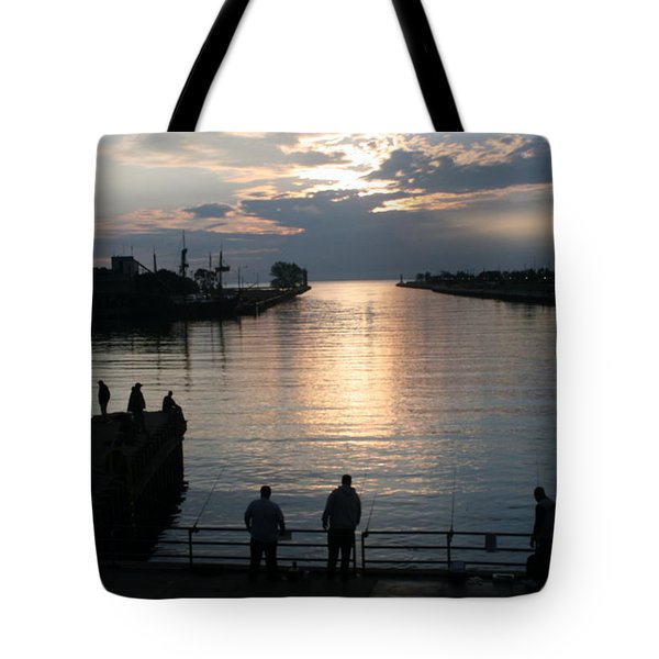 The Salmon Are Running Tote Bag by Kay Novy
