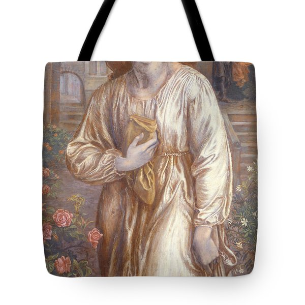 The Salutation  Tote Bag by Dante Charles Gabriel Rossetti