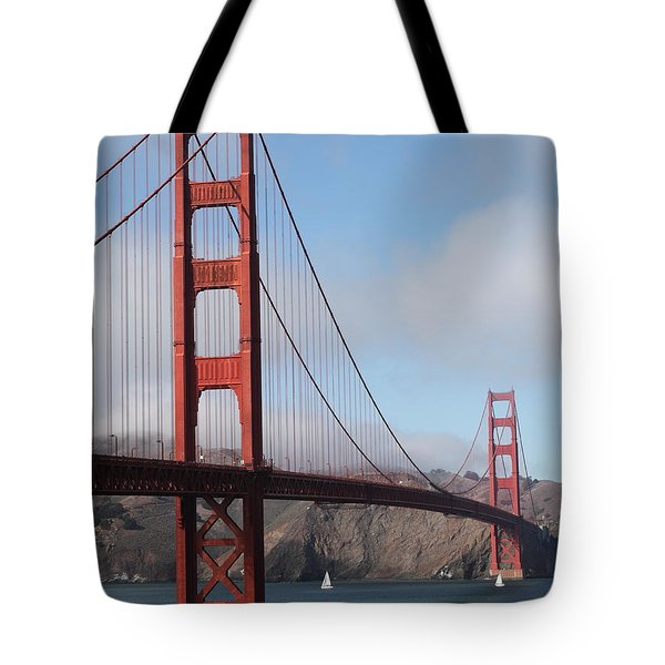 The San Francisco Golden Gate Bridge - 5D18906 Tote Bag by Wingsdomain Art and Photography