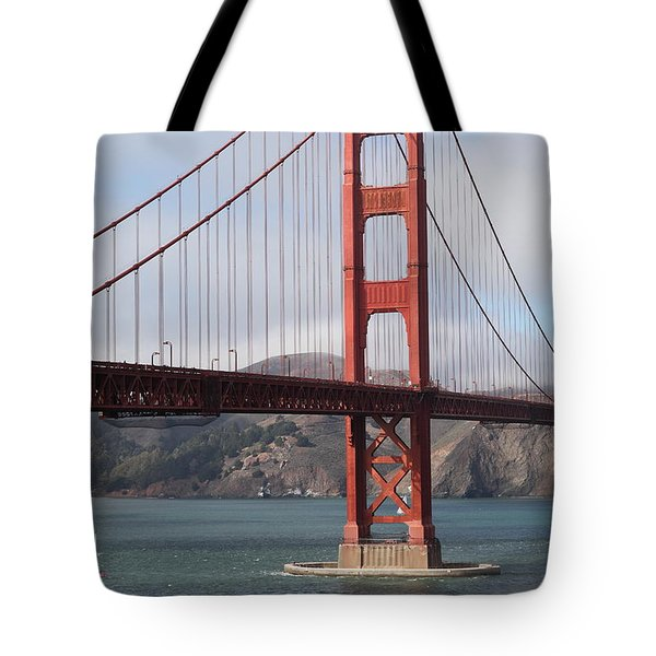 The San Francisco Golden Gate Bridge - 5d18911 Tote Bag by Wingsdomain Art and Photography