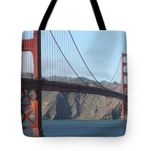 The San Francisco Golden Gate Bridge - 7d19184 Tote Bag by Wingsdomain Art and Photography