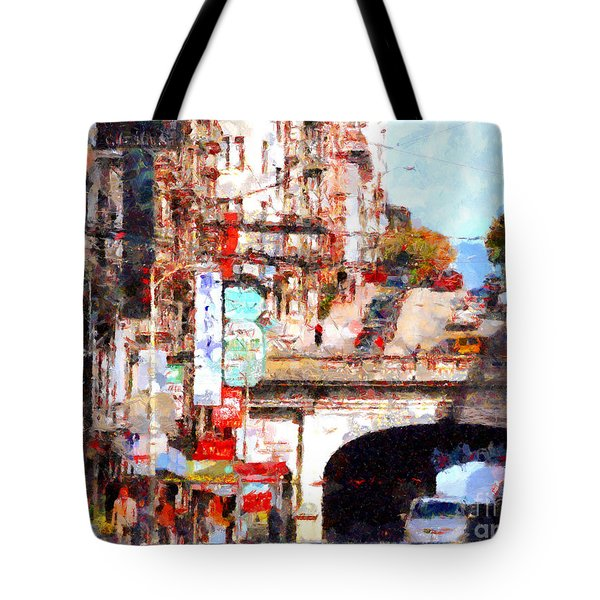 The San Francisco Stockton Street Tunnel . 7D7355 Tote Bag by Wingsdomain Art and Photography