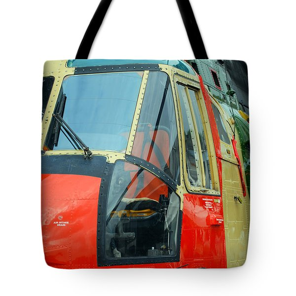 The Sea King Helicopter Used Tote Bag by Luc De Jaeger