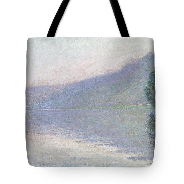 The Seine At Port Villez Tote Bag by Claude Monet