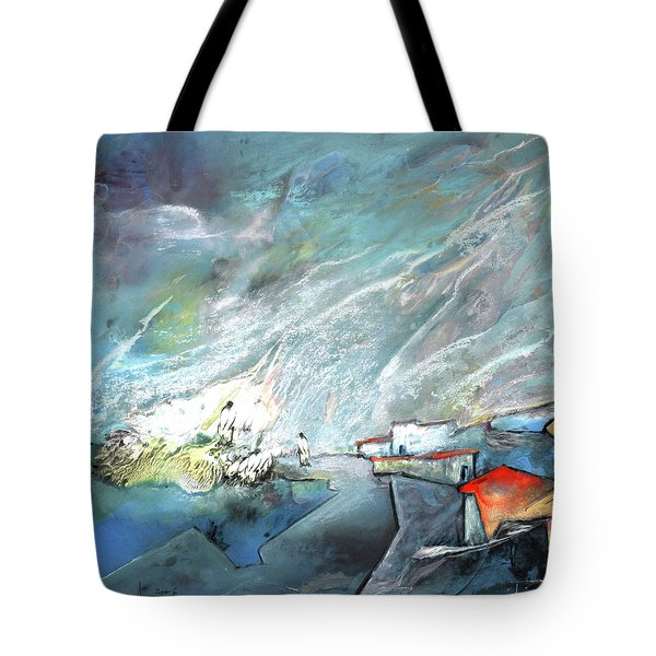 The Shores Of Galilee Tote Bag by Miki De Goodaboom