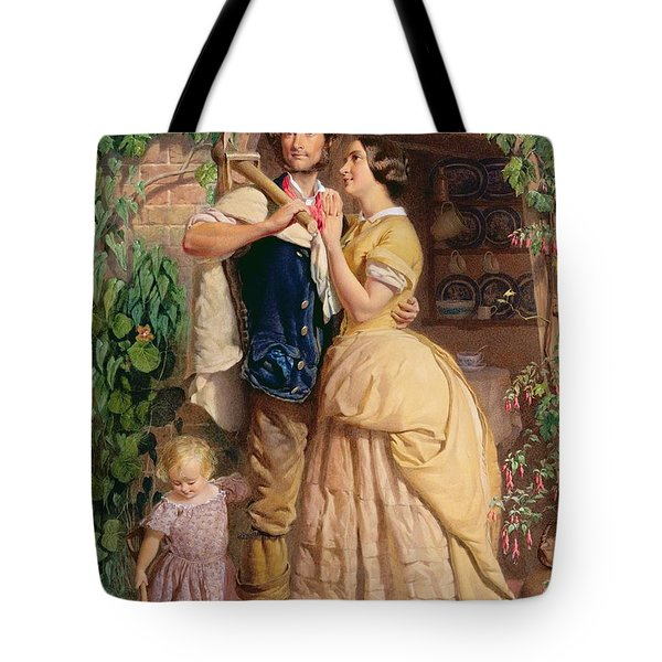 The Sinews Of Old England Tote Bag by George Elgar Hicks