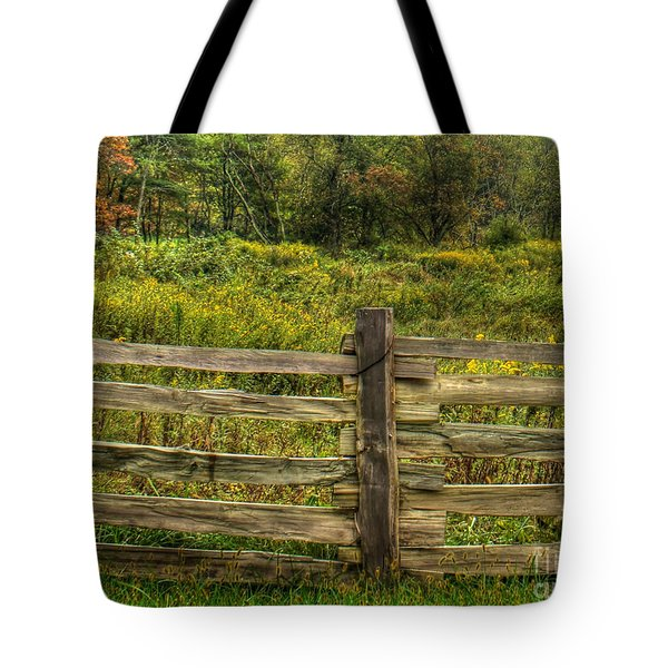 The Split Rail Meadow Tote Bag by Benanne Stiens