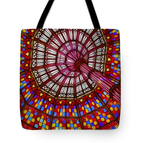 The Stained Glass Ceiling Tote Bag by Judi Bagwell