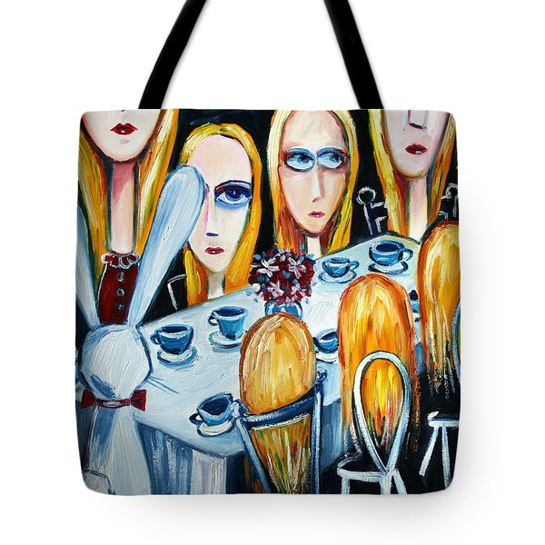 The States Of Alice Tote Bag by Leanne Wilkes