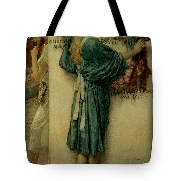 The Street Altar Tote Bag by Sir Lawrence Alma-Tadema