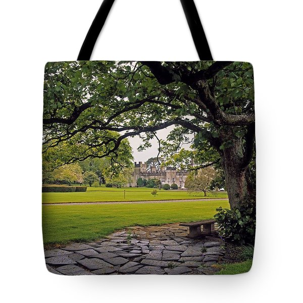The Sundial Terrace, Glin Castle, Co Tote Bag by The Irish Image Collection