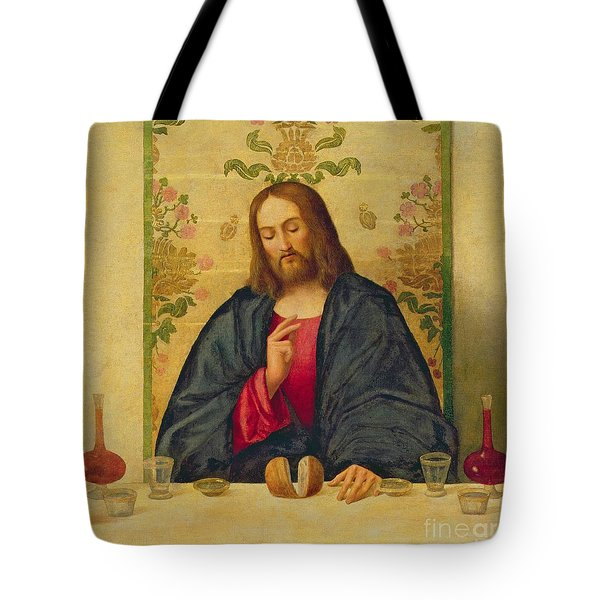 The Supper At Emmaus Tote Bag by Vincenzo di Biaio Catena
