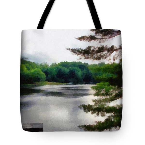 The Swimming Dock Tote Bag by Michelle Calkins