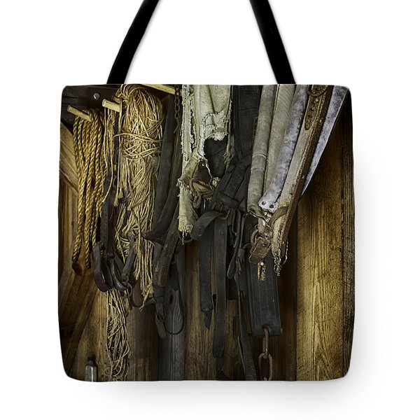 The Tack Room Wall Tote Bag by Lynn Palmer
