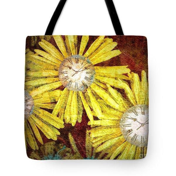 The Time Flowers Tote Bag by Tara Turner
