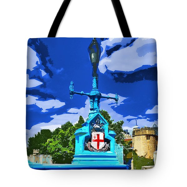 The Tower Lamp Post Tote Bag by Steve Taylor