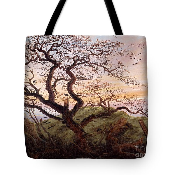 The Tree Of Crows Tote Bag by Caspar David Friedrich