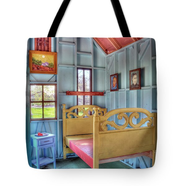 The Vincent Van Gogh Small House Tote Bag by Tamyra Ayles