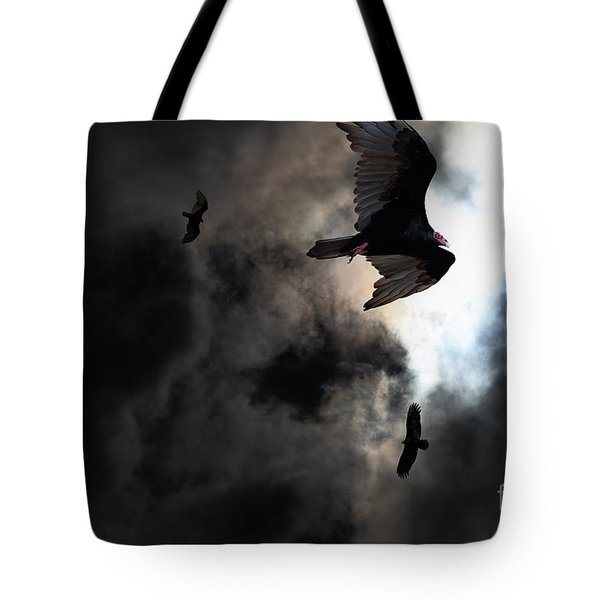 The Vultures Have Gathered In My Dreams . Version 2 Tote Bag by Wingsdomain Art and Photography
