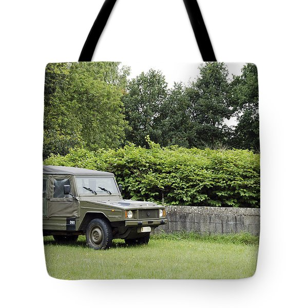 The Vw Iltis Jeep Used By The Belgian Tote Bag by Luc De Jaeger