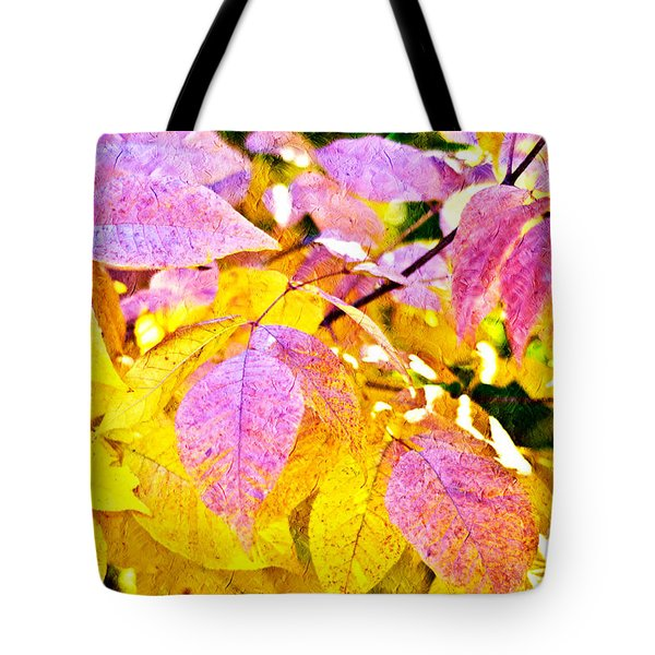 The Warm Glow In Autumn Abstract Tote Bag by Andee Design