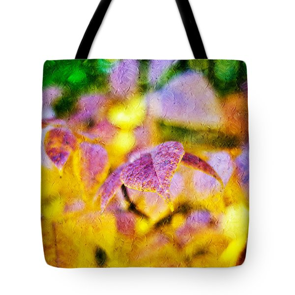 The Warmth Of Autumn Glow Abstract Tote Bag by Andee Design
