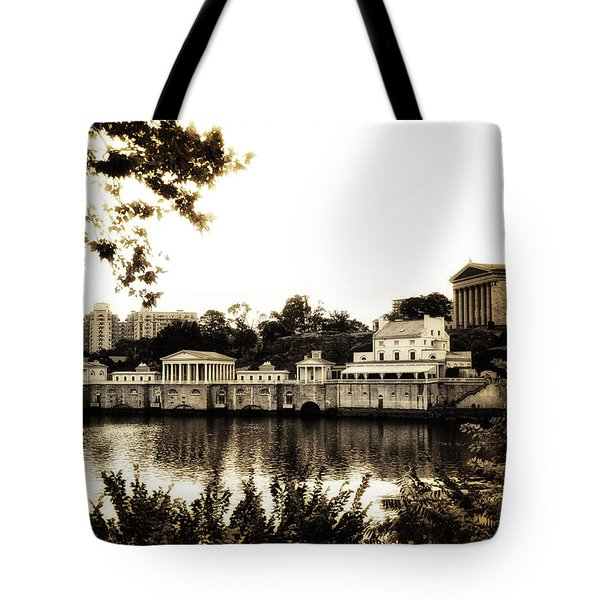 The Waterworks in Sepia Tote Bag by Bill Cannon
