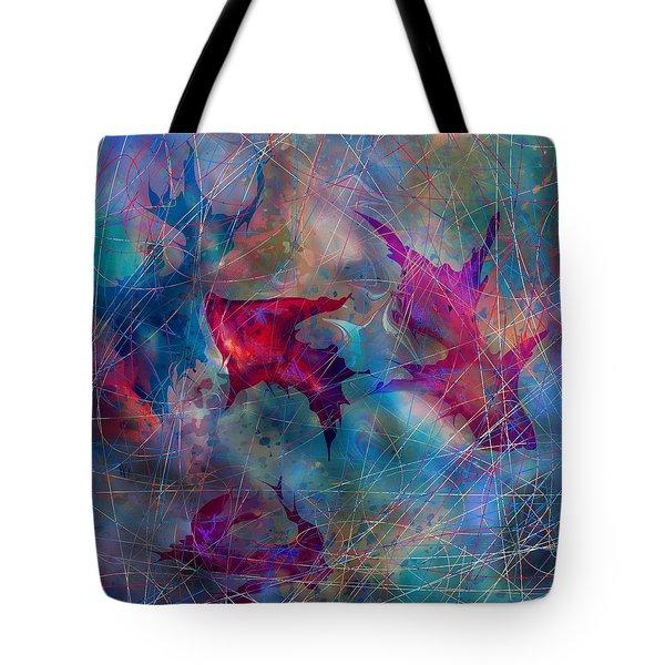 The Webs Of Life Tote Bag by Rachel Christine Nowicki