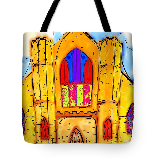 The Wedding Chapel Tote Bag by Alec Drake