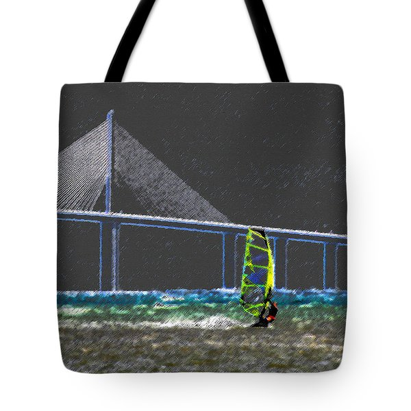 The Wind Surfer Tote Bag by David Lee Thompson