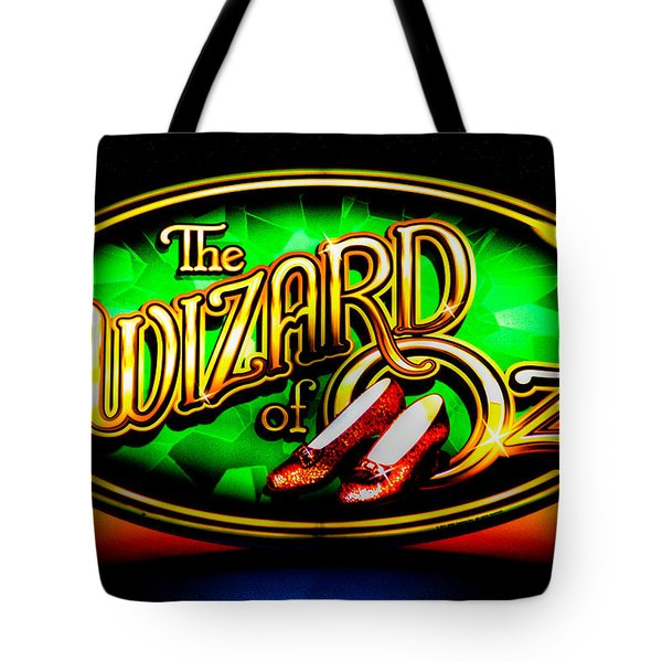 The Wizard Of Oz Casino Sign Tote Bag by David Patterson