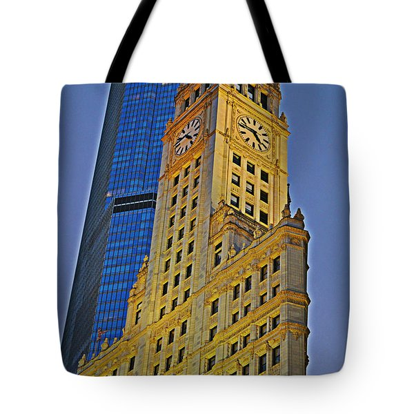 The Wrigley Building Tote Bag by Mary Machare