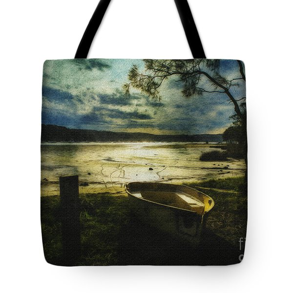 The Yellow Boat Tote Bag by Avalon Fine Art Photography