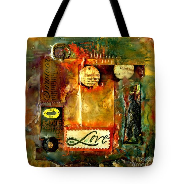 Thinking Of You With Love Tote Bag by Angela L Walker