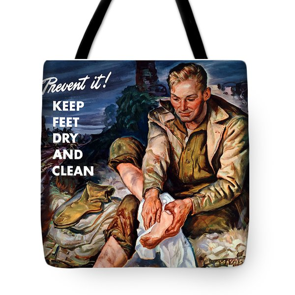 This Is Trench Foot Tote Bag by War Is Hell Store