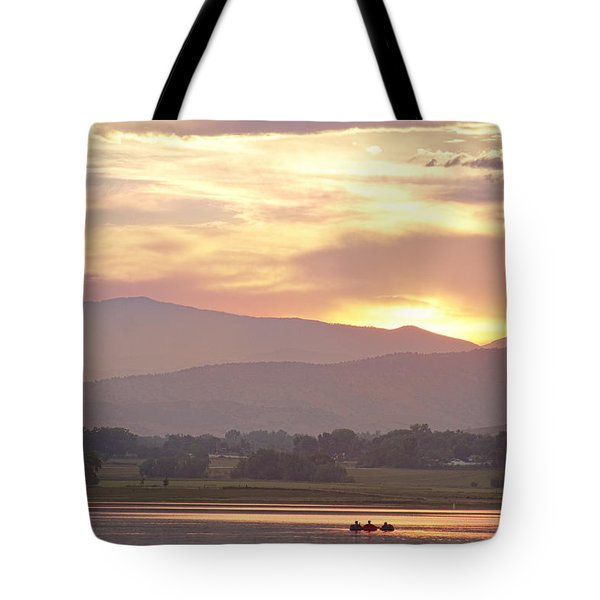 Three Belly Boats Golden Scenic View Tote Bag by James BO  Insogna