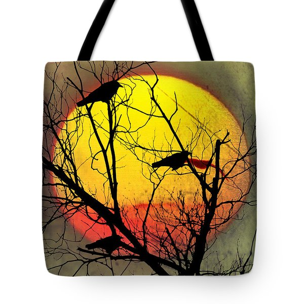 Three Blackbirds Tote Bag by Bill Cannon