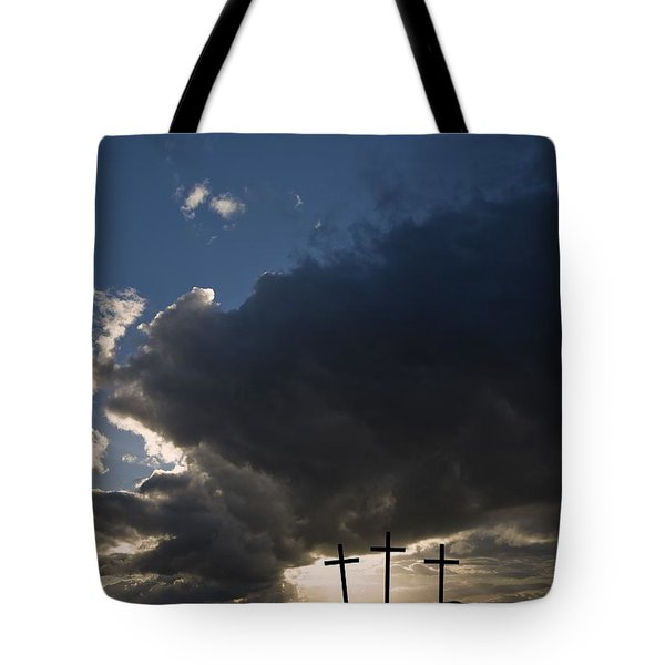 Three Crosses, West Yorkshire, England Tote Bag by John Short