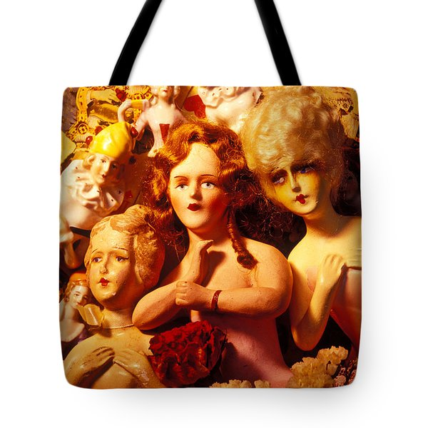 Three Old Dolls Tote Bag by Garry Gay