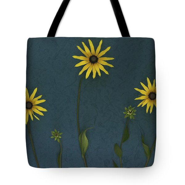 Three Yellow Flowers Tote Bag by Deddeda