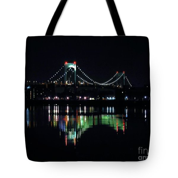 Throggs Neck Bridge Tote Bag by Dale   Ford