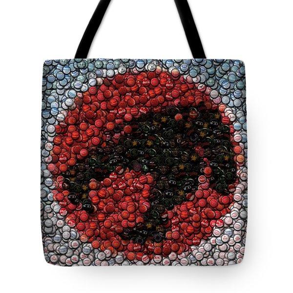 Thundercats Bottle Cap Mosaic Tote Bag by Paul Van Scott