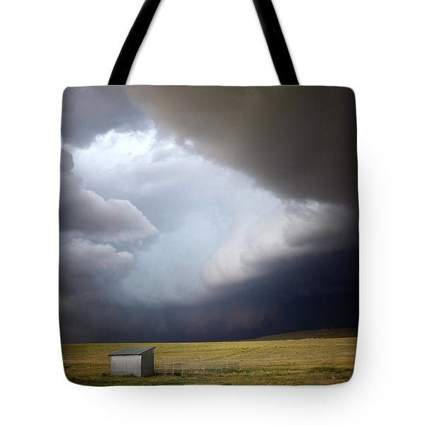 Thunderstorm Over The Plains Tote Bag by Ellen Heaverlo
