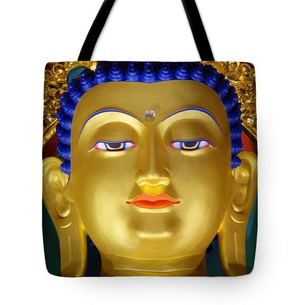 Tibetan Bhudda 3 Tote Bag by Bob Christopher